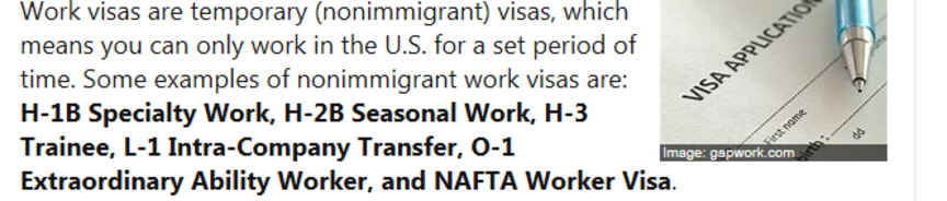 Stop Employment Training of People on H-1B / L-1 Work Visas