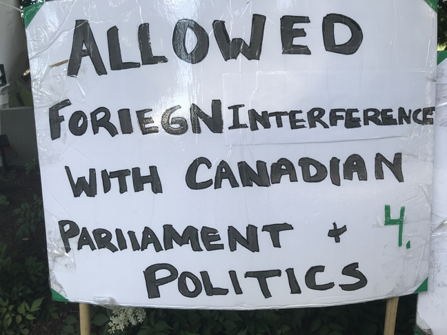 Allowed foriegn interference with canadian politics