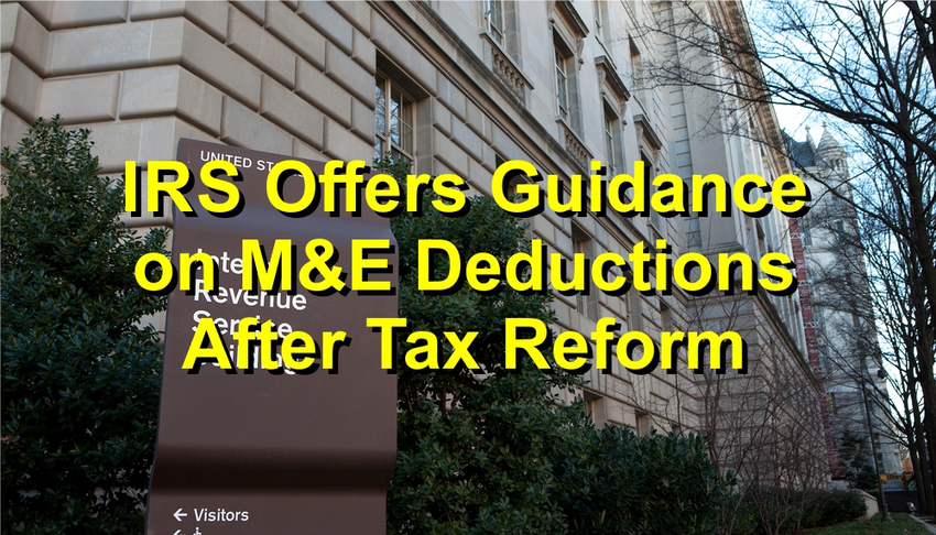 Follow IRS rules - M&E Deduction for pass-through entities.