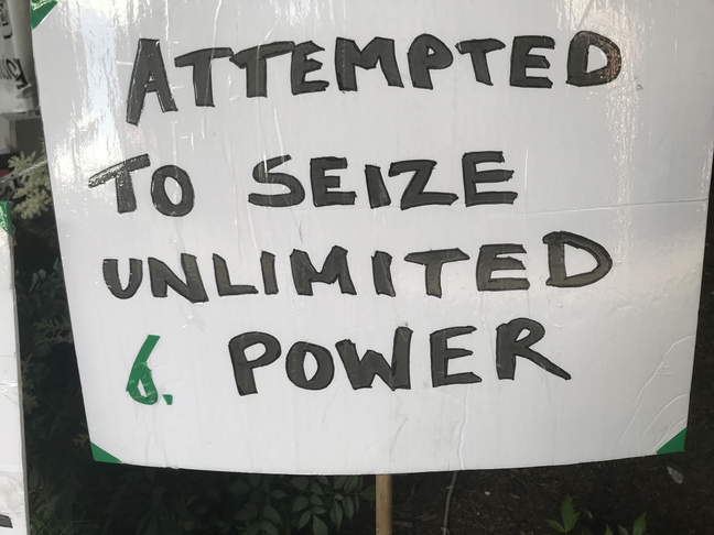 Attempted to seize unlimited power